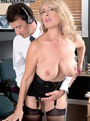 Italian MILF Secretary Laura Layne Gets banged In The Office