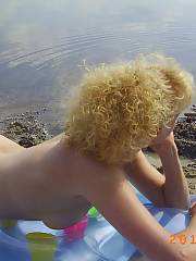 Every year when my wife and i go to her home village in germany she makes us go to the naked beach