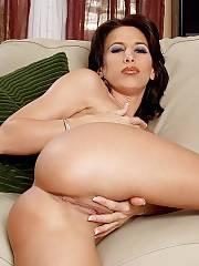 Horny brunette MILF