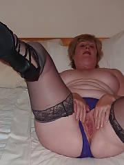 Horny chubby mature