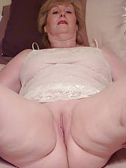 Sexy busty mom playing