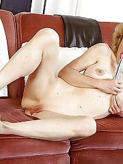Sexy mature cutie abby masturbating and toying her old sloppy pussy.
