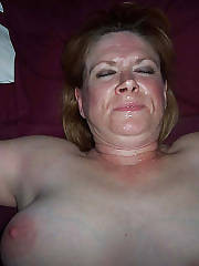 Blonde nasty mature kathie sucks penis and gets cumshot.