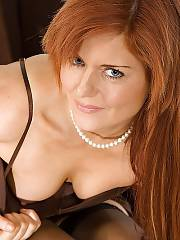Hot red-haired MILF