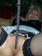 Blond kinky mother
