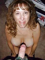 Mature mamma kay giving blowjob.