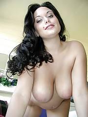 Hot boobed brunette