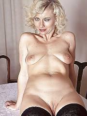 Sexy blonde mature