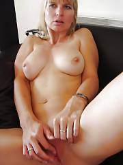 Cute blond mother