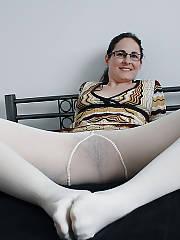 Mature slut in white