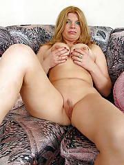 Horny blond MILF