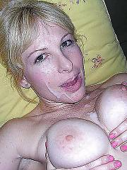 Amateur mature wife drilled and facialized.