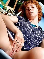Horny mother jerking