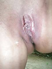 Chubby arab MILF masturbating her wet snatch.