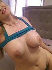 Busty blond mother Nina