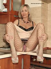 Hor Mature mother in Fishnets