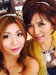 Hot Asian mamma and daughter