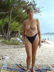 Hot topless mature