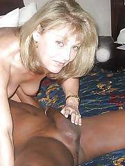 Hot blondie mature in this awesome homemade interracial pic