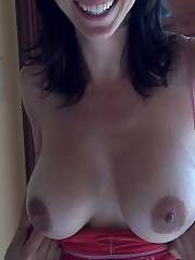 Mother with perfect jugs and big dark areolas