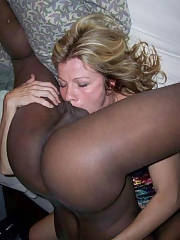 Interracial gag Mature bitch eating big black cock