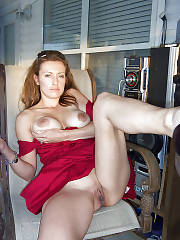 Hot pussy pic featuring hot redhead mature