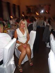Nasty blond mature at the wedding party