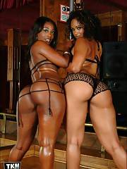 Smokin adorable black mom butts in lingerie