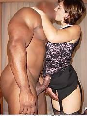 Pretty interracial photo featuring nice milf lingerie