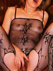 Hairy mother fishnet