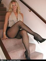 Sweet blondie mom