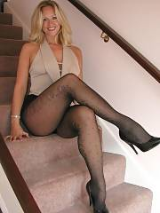Hot blond mom in