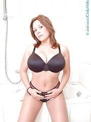 Curvy mother with