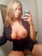 Boobed mom Selfie