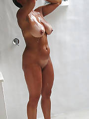 Mature mom in the Shower