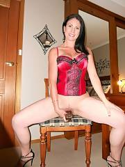 Mom dildo riding