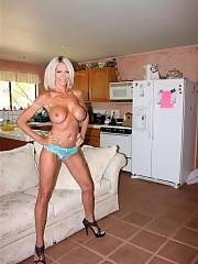 Cool blonde mommy