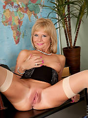 Lovely blonde mature in this photo