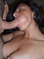 MILF blowing prick