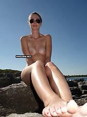 Tall wifey sunbathing