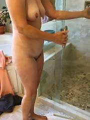 Mature wifey nude in bathroom & up-skirt photos