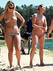 Sexy beach chicks and mature women sunbathing nude during the sexy nudist and naturist act on the beaches worldwide