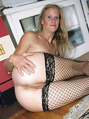 Incredible cunt picture featuring amazing blondie mommy lingerie
