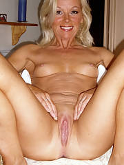 Pretty blond mature in incredible homemade cunt photo