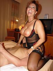Lovely milf in this