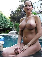 Milf naked by the