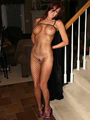 Cute fishnet mother