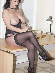 Mom in nylons