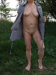 My wife enjoys to be nude in nature and I like to photograph her.