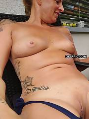 Amateur mamma naked outdoors exposing sexy hooters  twat